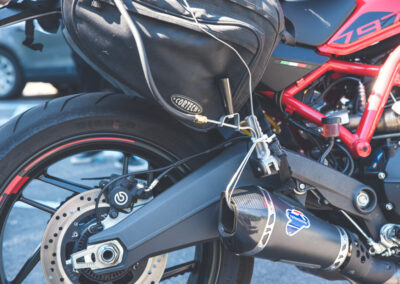 parSYNC® sample probe on motorcycle